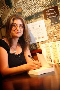 Tiverton Authoer Jenny Kane at Bampton Street's Costa Coffee for a signed book launch on Monday